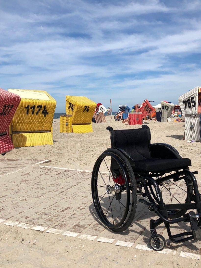 Langeoog mit Rollstuhl und Handicap