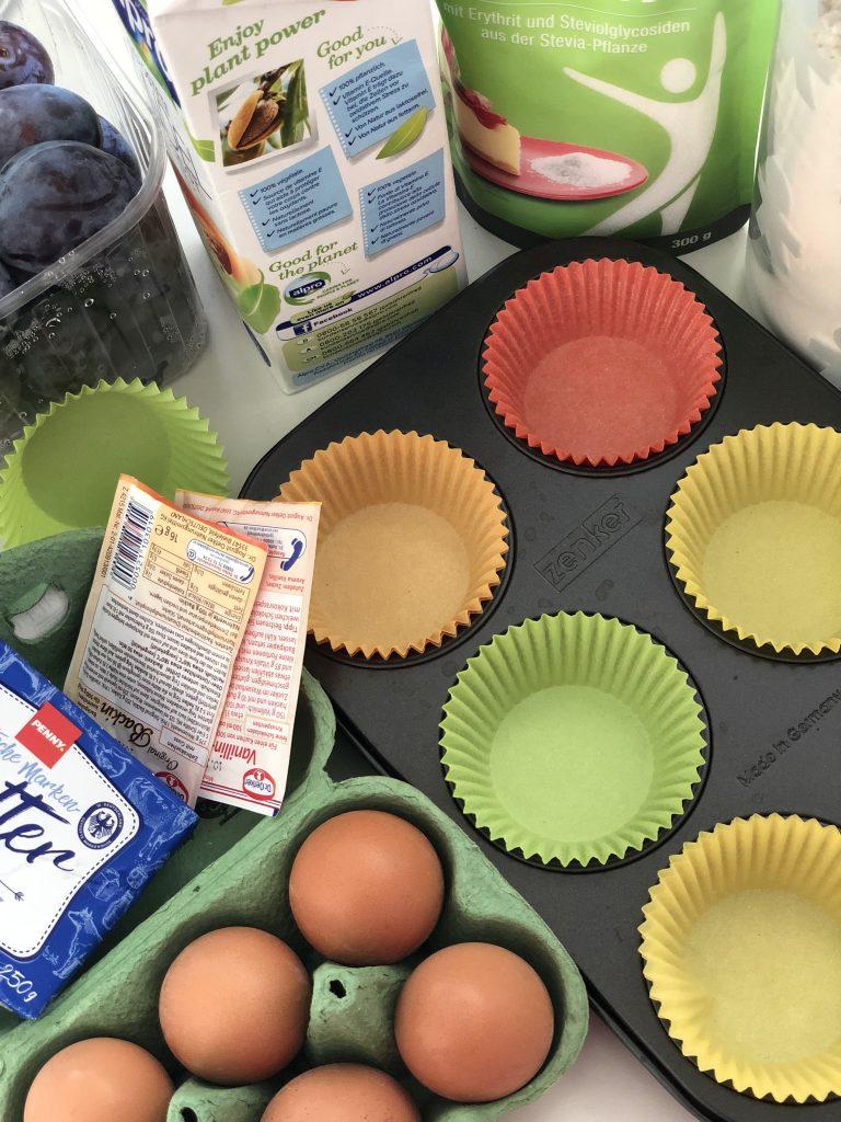 Pflaumen Muffins Zutaten