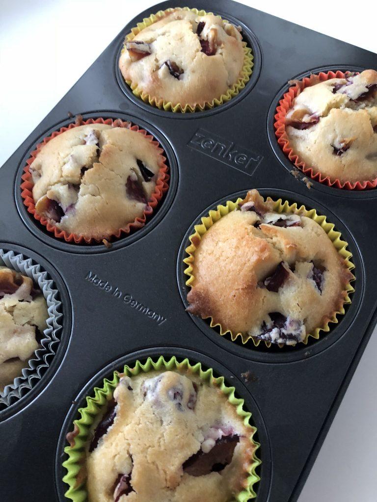 Pflaumen Muffins fertig
